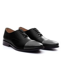 Black and Gray Premium Toecap Oxford alternate shoe image