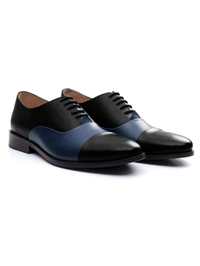 Black and Dark Blue Premium Toecap Oxford alternate shoe image
