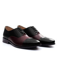 Black and Burgundy Premium Toecap Oxford alternate shoe image