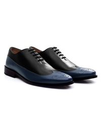 Black and Dark Blue Premium Wingtip Oxford alternate shoe image