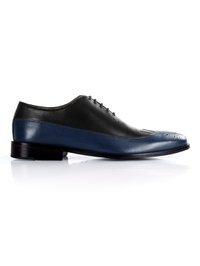 Black and Dark Blue Premium Wingtip Oxford main shoe image