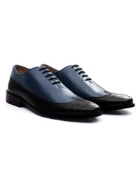 Dark Blue and Black Premium Wingtip Oxford alternate shoe image