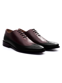 Burgundy and Black Premium Wingtip Oxford alternate shoe image