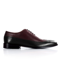 Burgundy and Black Premium Wingtip Oxford shoe image