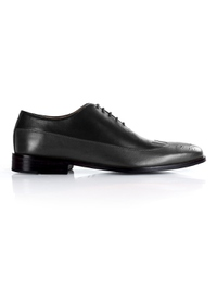 Black and Gray Premium Wingtip Oxford main shoe image