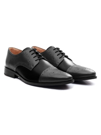 Gray and Black Premium Half Brogue Derby alternate shoe image