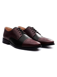 Burgundy and Black Premium Half Brogue Derby alternate shoe image