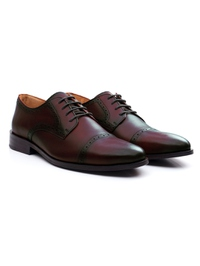 Oxblood Premium Half Brogue Derby alternate shoe image