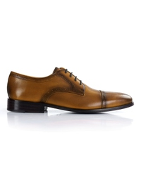 Yellow Premium Half Brogue Derby main shoe image
