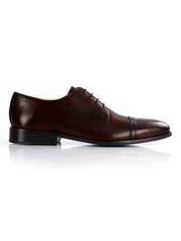 Dark Brown Premium Half Brogue Derby main shoe image