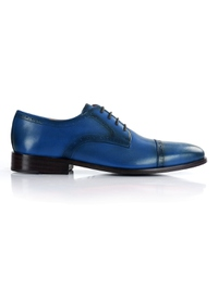 Dark Blue Premium Half Brogue Derby shoe image