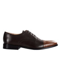 Brown and Coffee Brown Premium Half Brogue Derby main shoe image