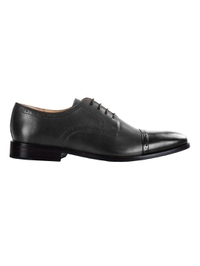 Gray and Black Premium Half Brogue Derby main shoe image
