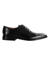 Black and Gray Premium Half Brogue Derby main shoe image
