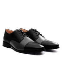 Black and Gray Premium Half Brogue Derby alternate shoe image