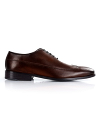 Dark Brown Premium Wingtip Oxford main shoe image