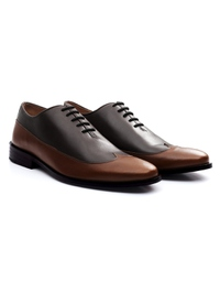 Brown and Coffee Brown Premium Wingtip Oxford alternate shoe image