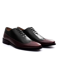 Black and Burgundy Premium Wingtip Oxford alternate shoe image