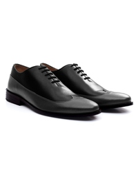 Black and Gray Premium Wingtip Oxford alternate shoe image