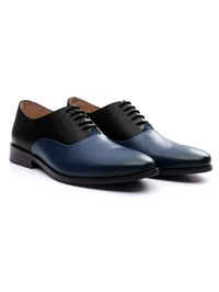 Black and Dark Blue Premium Plain Oxford alternate shoe image