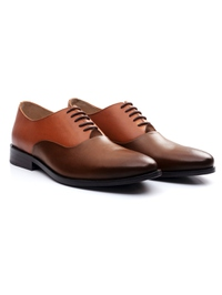 Tan and Coffee Brown Premium Plain Oxford alternate shoe image