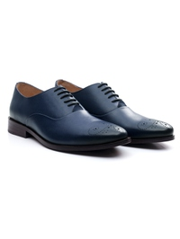Dark Blue Premium Plain Oxford alternate shoe image