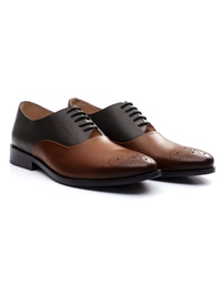 Brown and Coffee Brown Premium Plain Oxford alternate shoe image