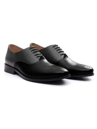 Gray and Black Premium Plain Oxford alternate shoe image