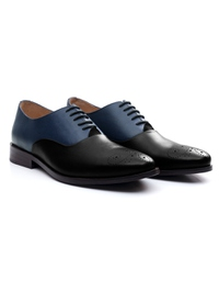 Dark Blue and Black Premium Plain Oxford alternate shoe image