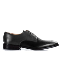 Gray and Black Premium Plain Derby main shoe image