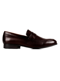 Dark Brown Premium Apron Halfstrap Slipon main shoe image