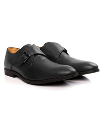 Gray Single Strap Monk Leather Shoes alternate shoe image