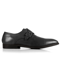 Gray Single Strap Monk Leather Shoes main shoe image