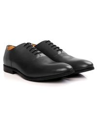 Gray Plain Oxford Leather Shoes alternate shoe image