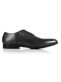 Gray Plain Oxford Leather Shoes shoe image