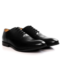 Black Plain Oxford Leather Shoes alternate shoe image