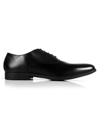 Black Plain Oxford Leather Shoes shoe image