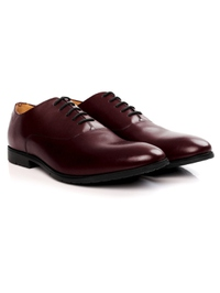 Burgundy Plain Oxford Leather Shoes alternate shoe image