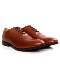 Tan Plain Oxford Leather Shoes alternate shoe image