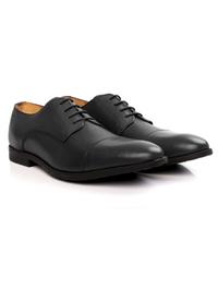 Gray Toecap Derby Leather Shoes alternate shoe image