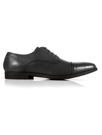 Gray Toecap Derby Leather Shoes shoe image