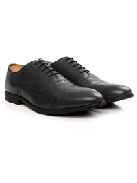Gray Quarter Brogue Oxford Leather Shoes alternate shoe image