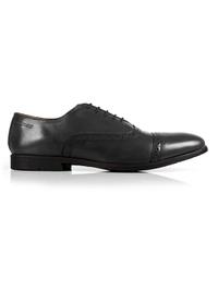 Gray Quarter Brogue Oxford Leather Shoes shoe image