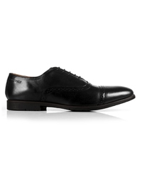 Black Quarter Brogue Oxford Leather Shoes main shoe image