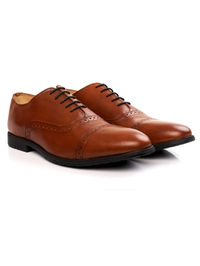 Tan Quarter Brogue Oxford alternate shoe image