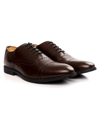 Brown Quarter Brogue Oxford Leather Shoes alternate shoe image
