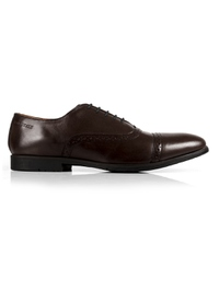 Brown Quarter Brogue Oxford Leather Shoes main shoe image