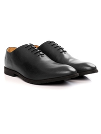 Gray Wholecut Oxford Leather Shoes alternate shoe image