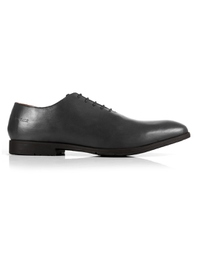 Gray Wholecut Oxford Leather Shoes main shoe image