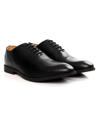 Black Wholecut Oxford Leather Shoes alternate shoe image